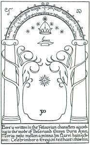 """""""Πες 'φίλος' και μπες"""". (Durin's Door by J.R.R. Tolkien)."""