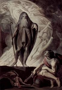 Teiresias Foretells the Future to Odysseus [Henry Fuseli]